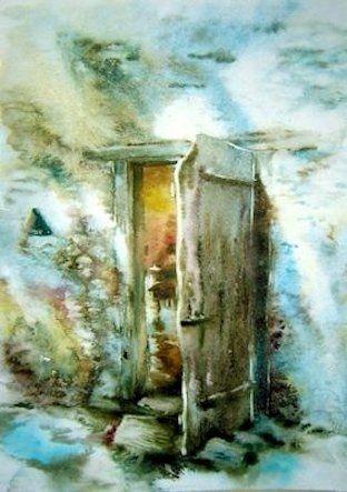 Aquarelle de m th r se klein la porte de l 39 atelier for Pinterest aquarell