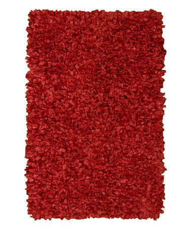 Loving this Red Shag Rug on #zulily! #zulilyfinds