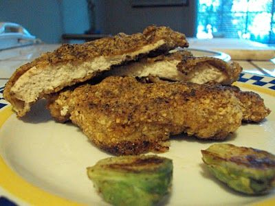 Southern Fried Chicken and Golden Crusted Brussels Sprouts