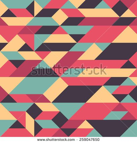 Abstract colorful seamless pattern with pyramids and cubes. #geometricpattern #vectorpattern #patterndesign #seamlesspattern