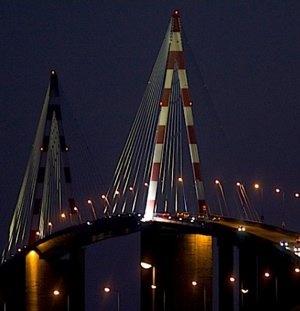 Le pont de Saint-Nazaire, Loire-Atlantique.