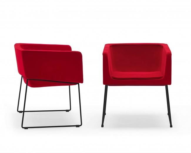 New Modern Red Accent Chair