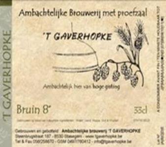 Gaverhopke Bruin 8 - Bierebel.com, la référence des bières belges