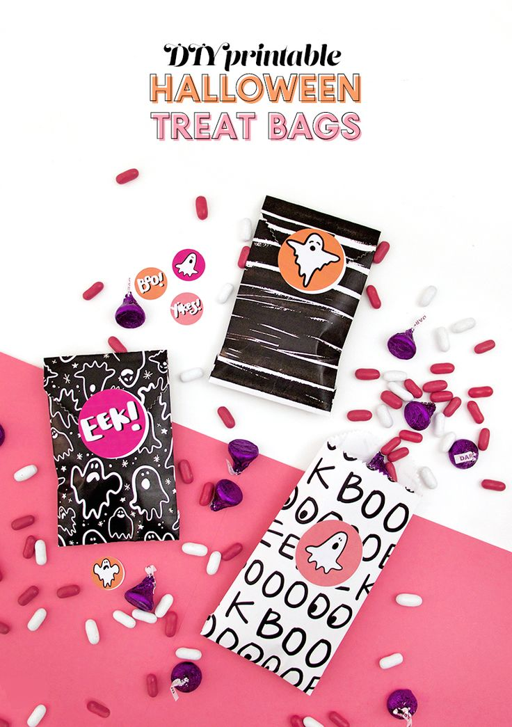 Learn how to make your own DIY printable treat bags! You can customize these simple treat bags for any party, holiday, or special occasion.  www.homeology.co.za       #DIY #Treatbag #goodies #swag #crafts #schoolcrafts #kidscraft