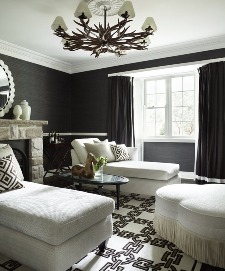 Media Room Of Today Velvety Deep Color On Wall Chaise Lounges Hollywood RegencySitting