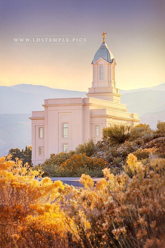 Cedar City Temple Fall Morning A Peaceful At The Utah