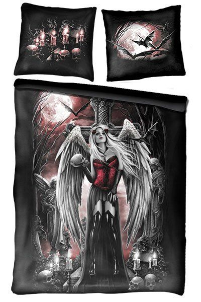 68 best gothic bedding images on Pinterest Goth bedroom Gothic