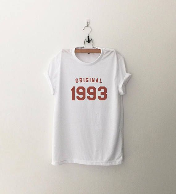 25th birthday shirts for women graphic tee girlfriend birthday gifts for her 90s clothing t shirts 1993