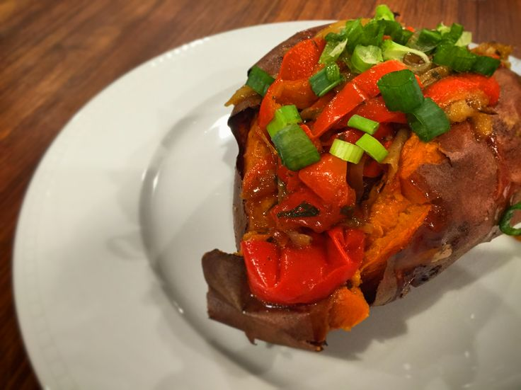 Stuffed Sweet Potatoes  #WhitsWay #organic #vegan #plantbased #vegetarian #paleo #glutenfree #dairyfree #nutfree #sweetpotatoes #pregnancy #realfood #cleaneating #dinner #recipes #healthblog #mommyblog
