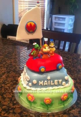 Homemade Wonder Pets Birthday Cake: I created this Wonder Pets Birthday Cake for a little girl's 2nd birthday. Her father contacted me and asked me to create a cake based on a picture he