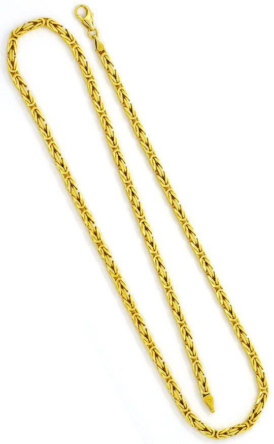 Foto 3, Königskette Goldkette massiv Gelb-Gold 14K/585 Achtkant, K2351