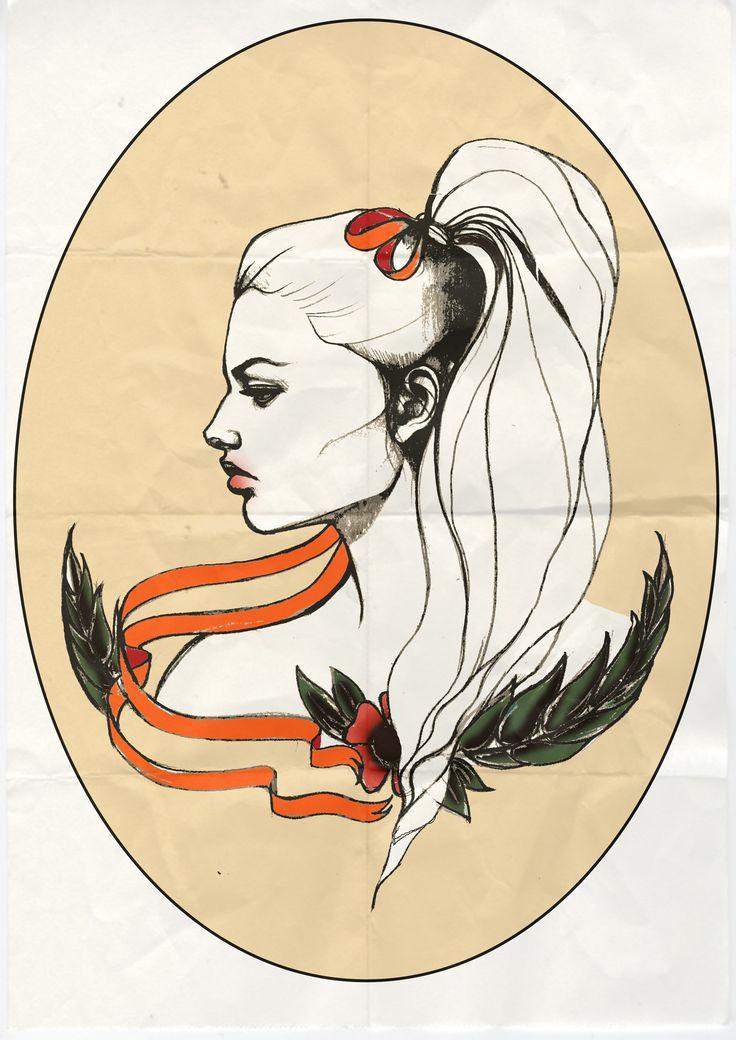 Ribbon Illustration for http://www.blindelephantcollective.com/