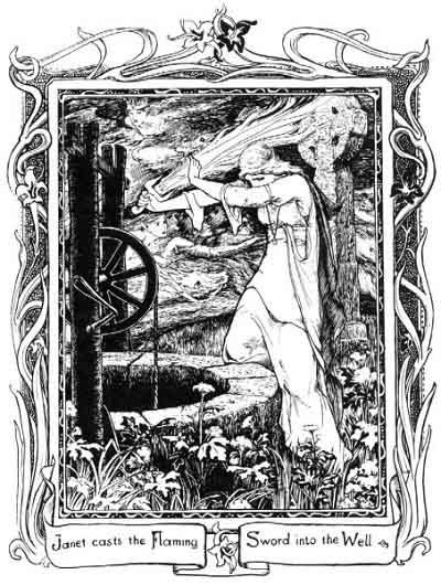 Janet illustrated by John D. Batten (from Tamlane, More English Fairy Tales by Joseph Jacobs)John Dickson, Dickson Batten, Art Nouveau, Illustration, Fairy Tales, Fairies Colors, Book, English Fairies, Fairies Tales