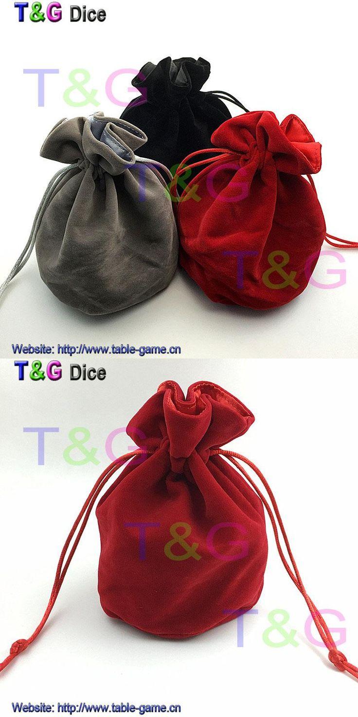 "[Visit to Buy] Dice bag double-deck Velvet bag 6*5.5"" Velvet Drawstring bags & Pouches for gift game for Board Game #Advertisement"