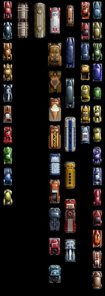 GTA 2 (mostly) unused sprites