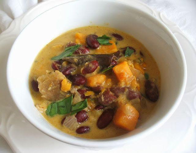 Thai-Inspired Sweet Potato Kidney Bean Soup
