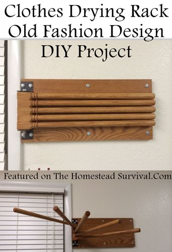 The Homestead Survival | How to Build a Fold Away Hanging Laundry Rack DIY Project | http://thehomesteadsurvival.com