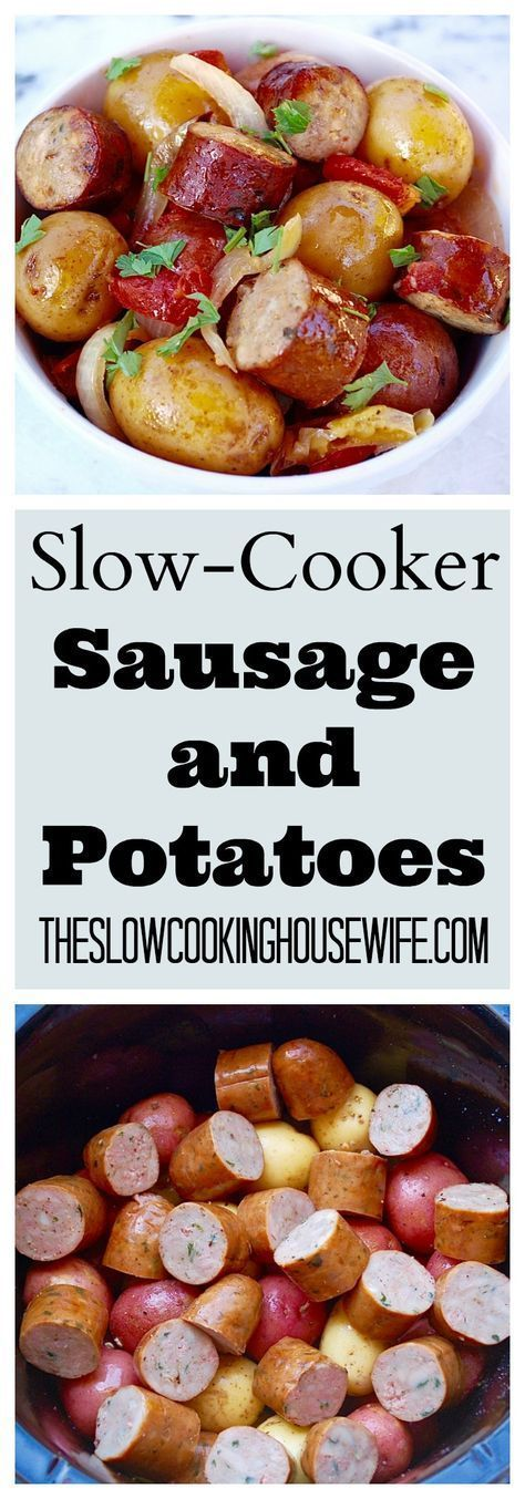 Slow-Cooker Sausage and Potatoes Easy no-fuss meal the whole family loves.
