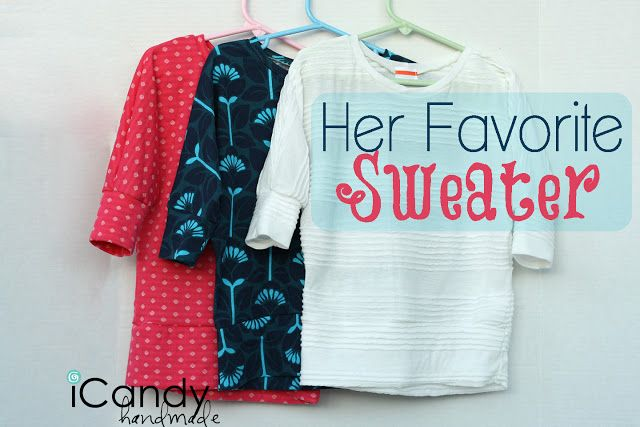 Favorite Sweater: tutorial and pattern size 6 free from @iCandyHandmade