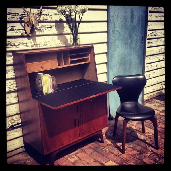 Retro Noblett Bureau Writing Desk Teak 70 39 S Vintage North Melbourne Melbourne City Image 2 New