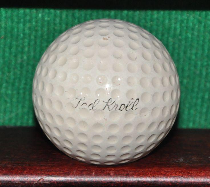 Vintage Ted Kroll Signature Golf Ball MacGregor Vulcanized