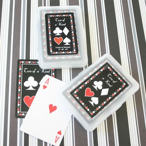 """""""Two of a Kind"""" Playing Cards - Personalized Playing Cards - Las Vegas Wedding Favors - Wedding Favor Themes - Wedding Favors & Party Supplies - Favors and Flowers"""