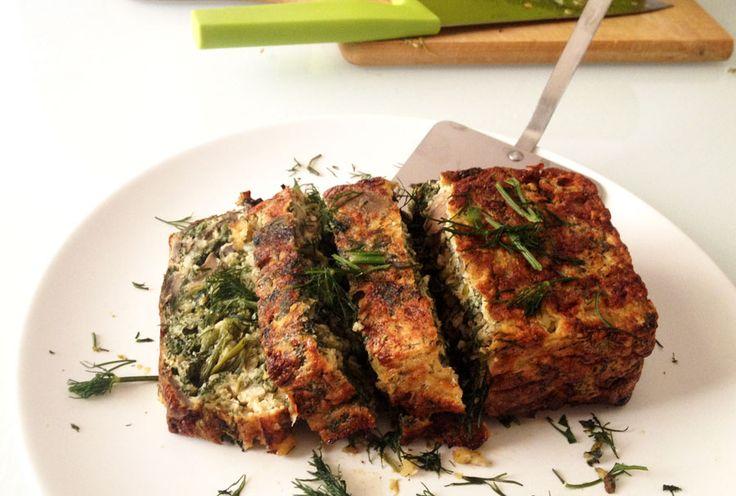 dukan-easy-recipes: Mushroom and spinach frittata - Φριτάτα με μανιτάρια και σπανάκι