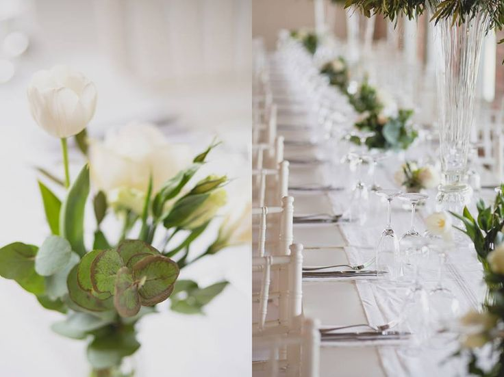 White lisianthus and penny gum made a perfect combo at this wedding