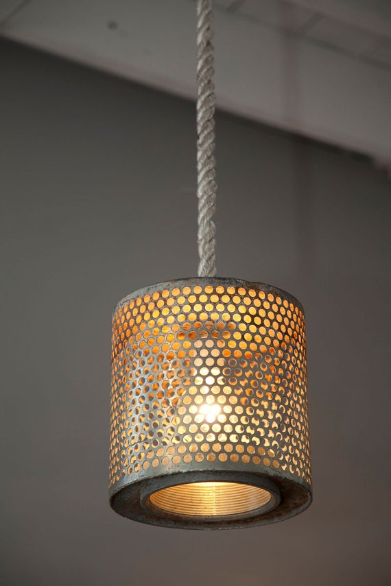 Air Filter Light on Rope by roughsouthhome on Etsy, $239.00
