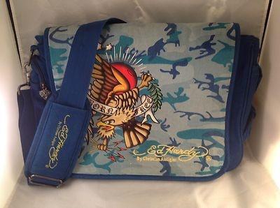 #ED HARDY Messenger Bag - BORN FREE - Laptop / Tablet / Book BagBook Bags, Ed Hardy, Messenger Bags, Hardy Messenger