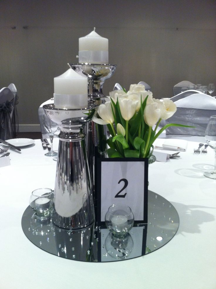 Tulip Wedding Centrepiece. I'd even place a no. 3 on it ...