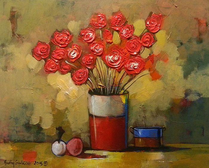 Red Bouquet 20x16 Offer To 21/01/2015 by Andrzej Gudanski on ArtClick.ie