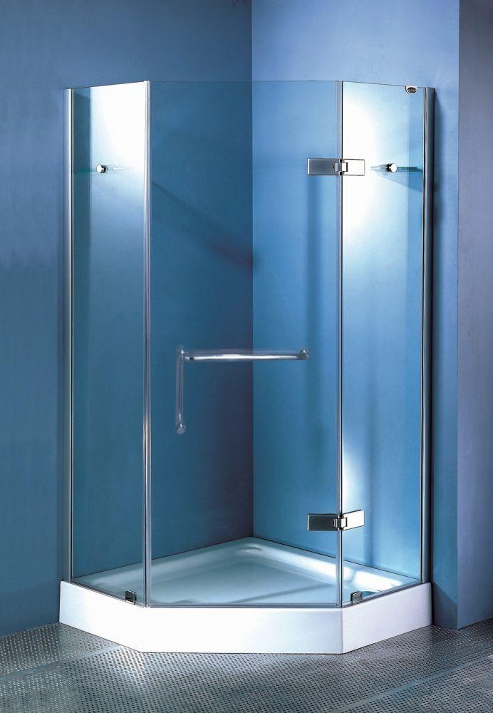 cavern 40 inch neo angle frameless door base bathrooms rh pinterest ca