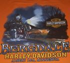 Men's Harley Davidson T Shirt Orange Size XL Tank Top HD Motorcycle Biker MN