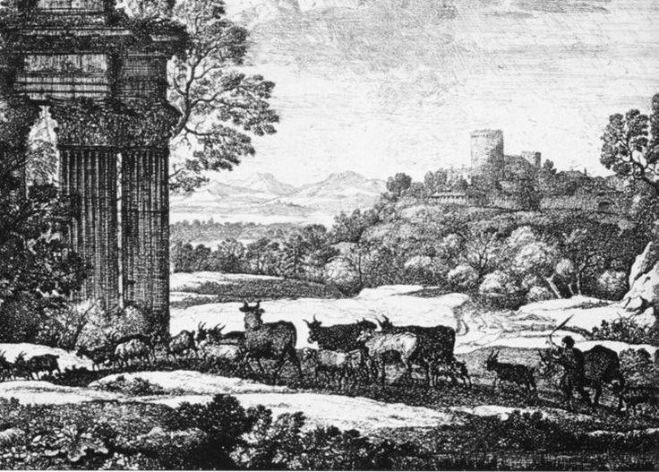 se trata de una obra de Claudio de Lorena,se trata de una tecnica a pluma, fue publicado por primera vez en 1777.