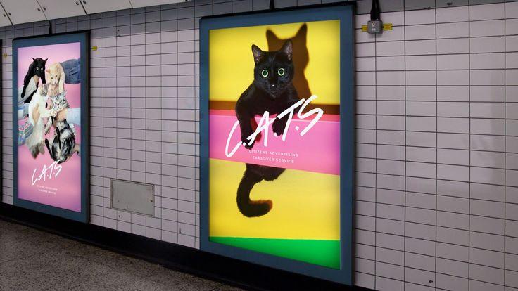 Gatos against the machine. Metro de Londres, CATS (Citizen Advertising Takeover).
