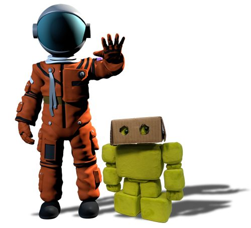 The Astronaut and the robot is a short story we are developing. We follow our characters as they travel through the bubble universe.