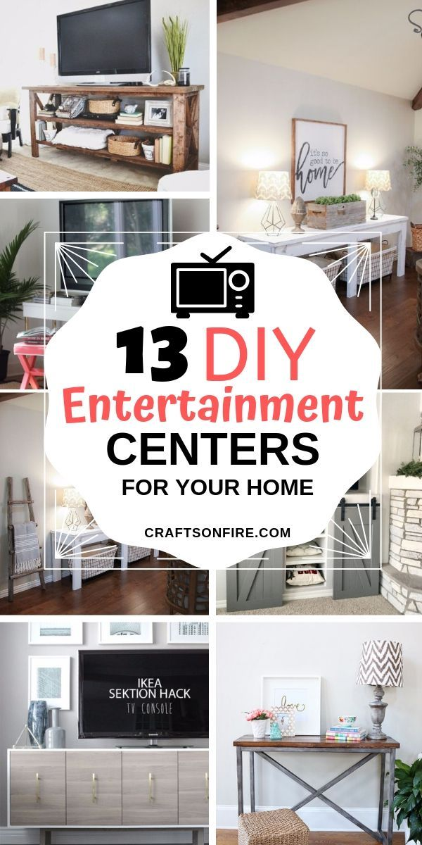 13 Stylish DIY Entertainment Centers For Your Home