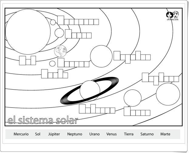 El Sistema Solar Ficha De Ciencias Sociales De Primaria Sistema Solar Ciencias Sociales Aprender Italiano
