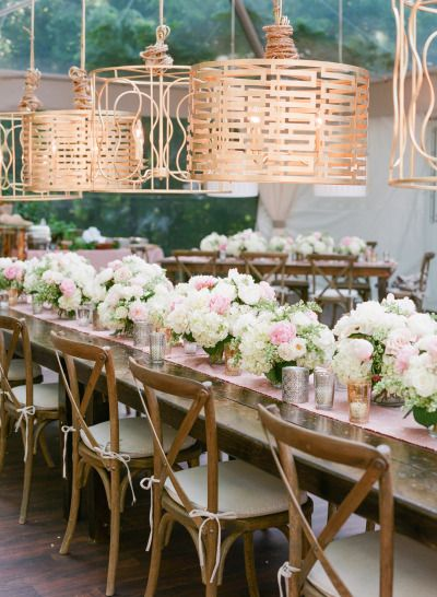 Stunning wedding table: http://www.stylemepretty.com/2014/09/22/emily-maynards-surprise-wedding-to-tyler-johnson/ | Photography: Corbin Gurkin - http://corbingurkin.com/