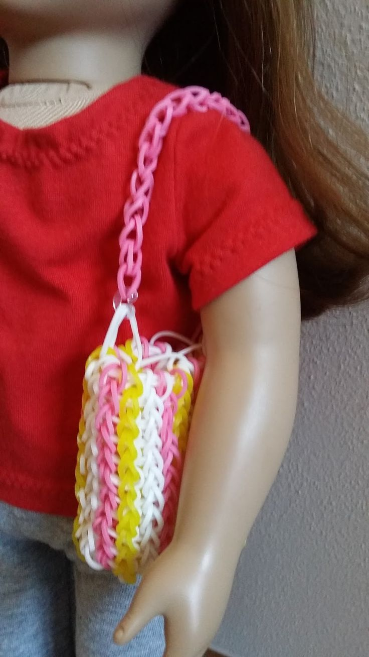 American Girl Doll Crafts and Fun!: Rainbow Loom Purse for Dolls
