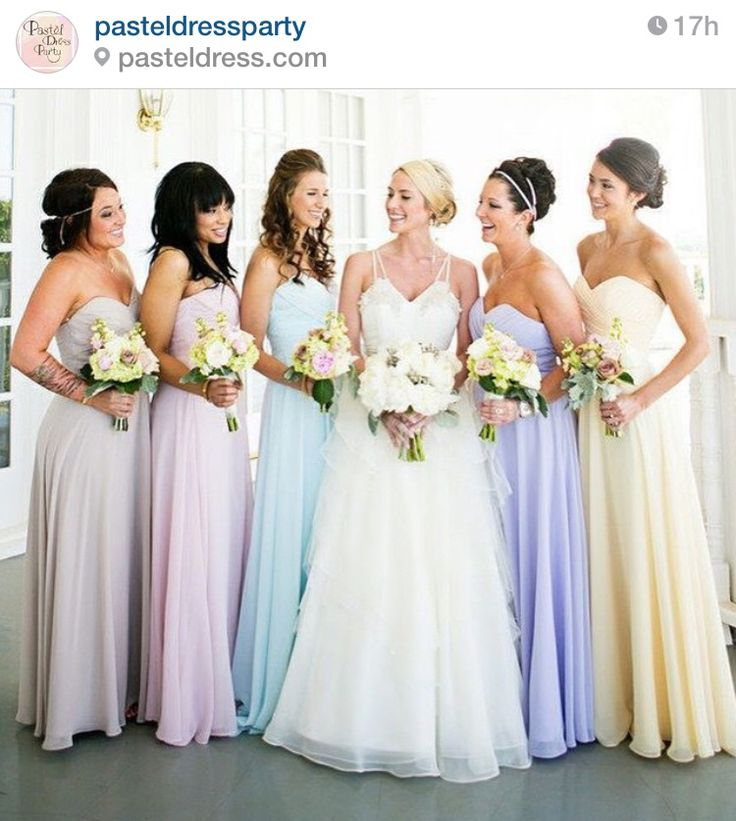 Pastel Colored Wedding Gowns: Pastel Bridesmaid Dresses, Pastel