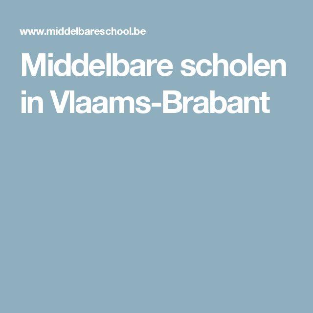 Middelbare scholen in Vlaams-Brabant