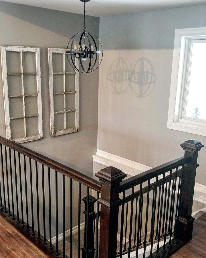 Open Rail Stairs Diy Light Fixtures U Shaped Stairs Home Diy