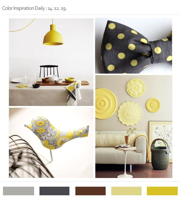 yellow & gray & wood