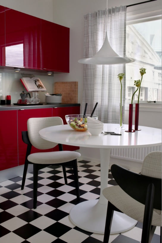 Ikea kitchen 2004 a bit of a retro look with attractive for Kitchen design 43055