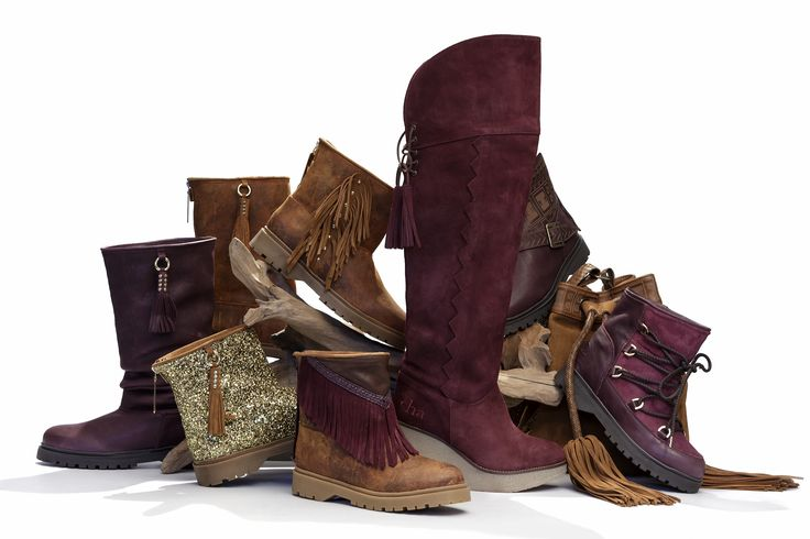 Cha FW16 - Go Bold with Bordeaux. Handmade leather boots & bags with a cozy lining.