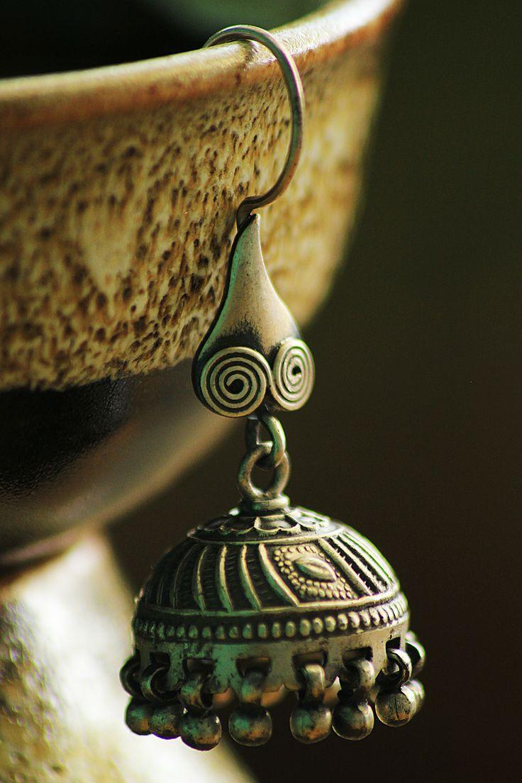 #silverjewellery Silver jhumka