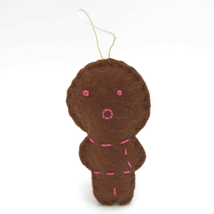 Kissing gingerbread - gingerbread man, christmas decor, christmas gift, christmas decoration, cute, adorable. by HalloweenOrChristmas on Etsy
