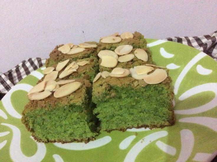 Green Tea Almond Brownie